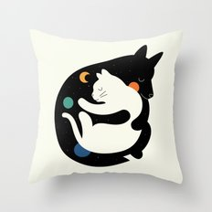 More Hugs Less Fights Throw Pillow