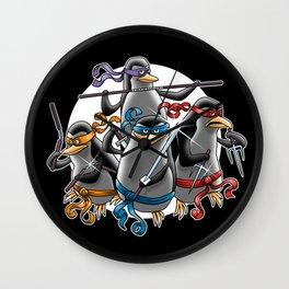 Ninja Penguins Wall Clock