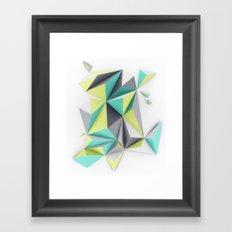 TRIANGLES//02 Framed Art Print