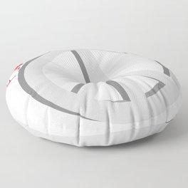 Forever peace symbol Floor Pillow