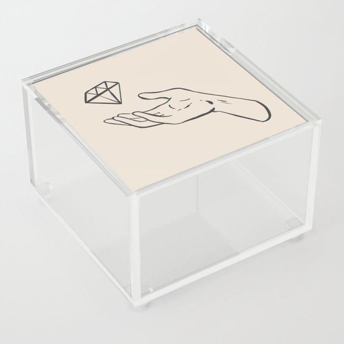 diamond thief white Acrylic Box