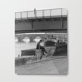 Relaxing Time Under The Bridge Metal Print
