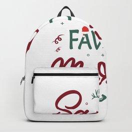 Santas Favorite Marine Christmas Marine. Backpack