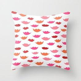 LIP SERVICE {meringue} Throw Pillow