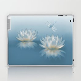 Blue Lotus and Dragonfly Laptop & iPad Skin