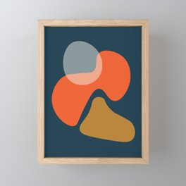 Abstract # 3 Blue Orange Framed Mini Art Print