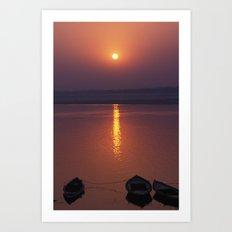 Sunrise On The Ganges Art Print