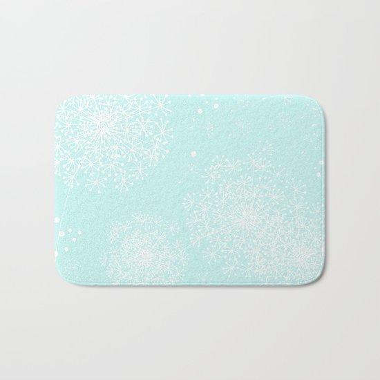 DANDY SNOWFLAKE AQUA Bath Mat