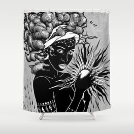 The first woman Shower Curtain