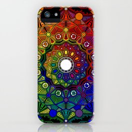 Mandala 46 - Psychedelic Mandala Rainbow series iPhone Case
