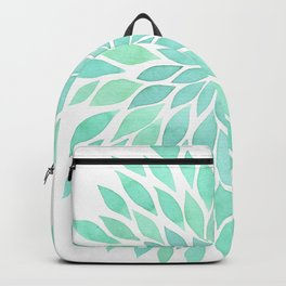 Leaves green light pastel Backpack
