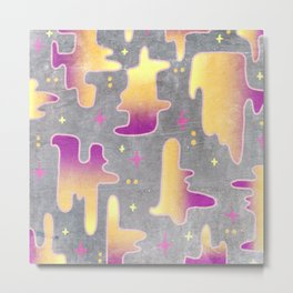 outer space on a concrete wall Metal Print