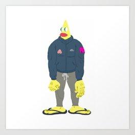 yellow guy Art Print