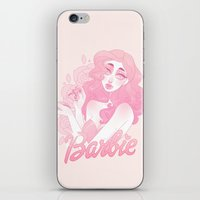 barbie iPhone & iPod Skins featuring Barbie by Petite Passerine