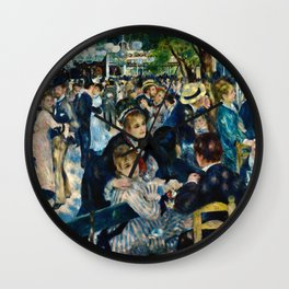 Auguste Renoir - Dance At Le Moulin De La Galette Wall Clock
