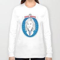 leslie knope Long Sleeve T-shirts featuring Vote Knope by geeksweetie