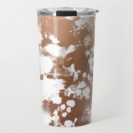 Rose Gold shiny metal sparkle modern pattern abstract rosegold trendy pattern cell phone accessories Travel Mug