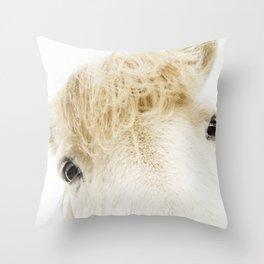 Silver Bullet - Icelandic horse Throw Pillow