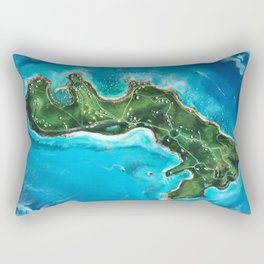 Water Island Map Rectangular Pillow