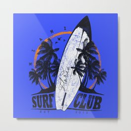 Summer Time - Surf Club Metal Print