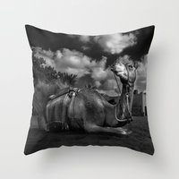 camel Throw Pillows featuring Camel by Sadiq