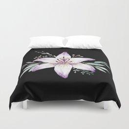 Lilium black Duvet Cover