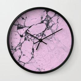 Marble Rose Wall Clock