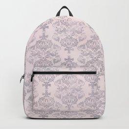 Rose Grey Pastel Damask Watercolor Pattern Backpack