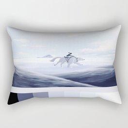 korra and naga palette Rectangular Pillow