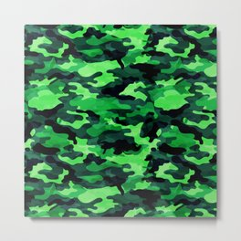 Camouflage (Green) Metal Print