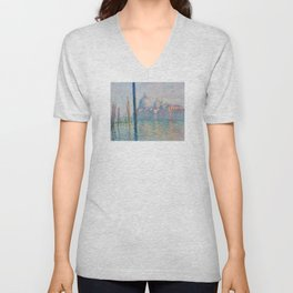 Claude Monet - Le Grand Canal Unisex V-Neck