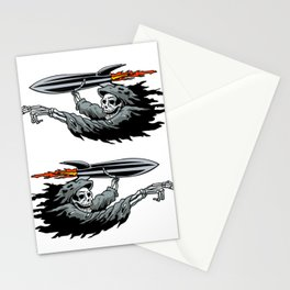 Grim Reaper launching missile. Stationery Cards