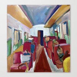 Tren de madrugada Canvas Print
