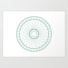 Anime Magic Circle 6 Art Print