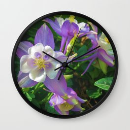 Purple Shooting Stars Wall Clock