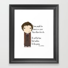 Doctor Who: It's Not the Time That Matters Framed Art Print