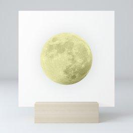 CANARY YELLOW MOON Mini Art Print