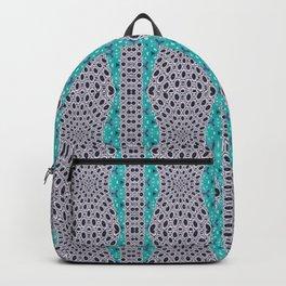 Trending Turquoise and Grey Black Stripe Pattern Design Backpack