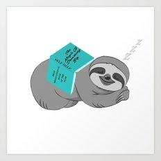 Sloth - Dreaming Big Art Print
