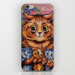 Cat and Her Kittens-Louis Wain Cats iPhone Skin