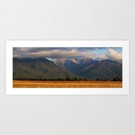 Montana Evening Art Print