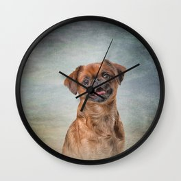 Drawing Dog breed Griffon Brabanson Wall Clock
