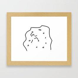 climb climbing hall boulder Framed Art Print