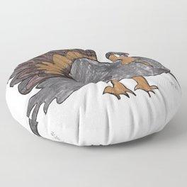 Fall Turkey Floor Pillow