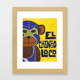Luchamals Series- El Chango Loco Framed Art Print