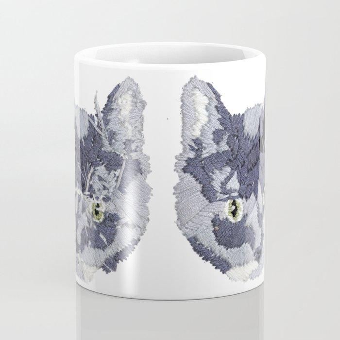 Cat Embroidery Coffee Mug