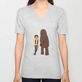 Han & Chewie, The Rogues Unisex V-Neck