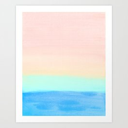 Retro Rainbow Painting Art Print