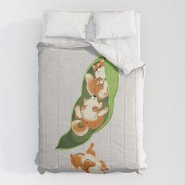 Peapod Shiba Inu in Grey Comforters