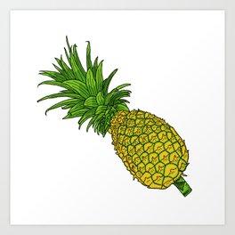 Pi the pineapple Art Print